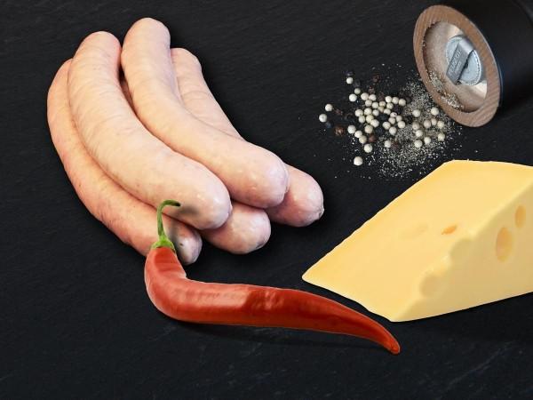 5 rohe Rostbratwürste mit Chili und Käse schockgefrostet MHD 4 Monate bei - 18 Grad