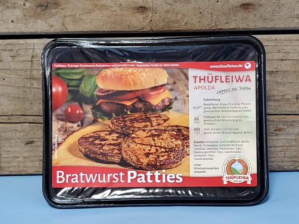 Bratwurst-Pattie aus Bratwurstbrät