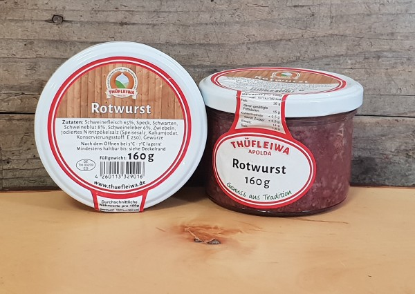 Original Thüringer Rotwurst im Glas
